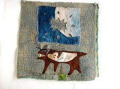 Jude Hill, To Carry and Be Carried, 2013. Hand-stitched.