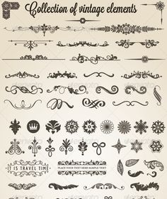Collection of vintage elements #GraphicRiver Hundreds of ornaments, decorations, elements, separation. For decorating your flyer, book, poster or any design that you want to give a touch of elegance and also use them to separate and sort the information. Hope you enjoy! Created: 16October12 GraphicsFilesIncluded: VectorEPS #AIIllustrator Layered: Yes MinimumAdobeCSVersion: CS3 Tags: book #curved #decorating #decorations #delicate #design #elegance #elements #flyer #hundreds #information…