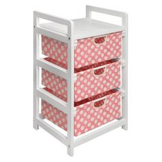 Whimsy and sophistication meet in this Badger Basket White Three Drawer Hamper/Storage Unit - Pink Polka Dots as seen in the goes-with-everything white. 3 Drawer Storage Unit, Storage Organization, Storage Ideas, Doll Storage, Baby Storage, Organization Ideas, Nursery Organization, Cosmetic Organization, Basket Storage