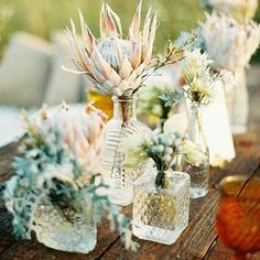 Crystal decanter centerpieces