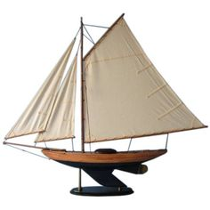 Wooden Admiral's Sloop Decoration 40 inch