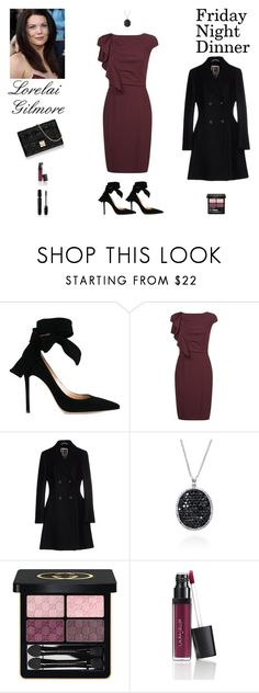 """Contest: ""Gilmore Girls"" - Lorelai Gilmore Friday Night Dinner N.2 Outfit"" by billsacred ❤ liked on Polyvore featuring Gianvito Rossi, MaxMara, I'm Isola Marras, Effy Jewelry, Christian Dior, Gucci, Laura Geller and Marc Jacobs"