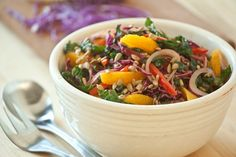 Rainbow Kale Slaw (maybe try white balsamic)