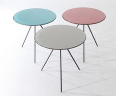 A three-legged tables. Use next to the sofa…