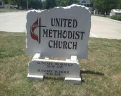 United Methodist Church Sign; big or small, we can build a custom sign just for you