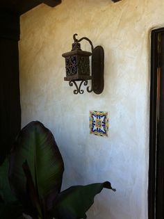 Front porch lamp Spanish Bungalow, Spanish Style Homes, Spanish Revival, Spanish Colonial, Colonial Revival Architecture, Porch Lamp, Stucco Texture, Front Door Lighting, Stucco Homes