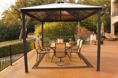 Modern Gazebo Design With Dining Area In Outdoor Outdoor gazebo design as decoration idea in modern home Home decoration