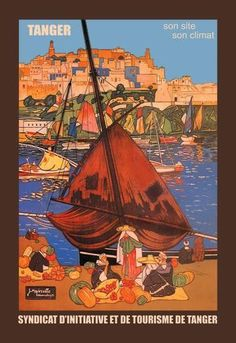 Series: Ships - Sailboats Artist: Jacques Majorelle Period: Source country: Morocco Source Year: 1924 12 inch by 18 inch Giclee print on Canvas. All files are stored digitally and are ready for reprod