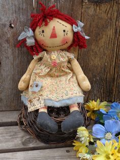 Handmade Primitive Raggedy Ann Doll Country by CountryLifeisBest, $75.00