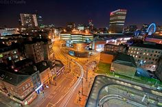 Central Manchester from Shudehill Interchange car park