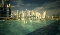 Promotional illustrations for a proposed new smart city in Dholera, India.