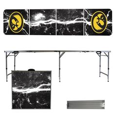 University of Iowa Hawkeyes 8 Foot Portable Tailgate and Pong Table