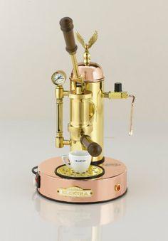 Ascaso Elektra Micro Casa A Leva Copper & Brass Espresso Machine
