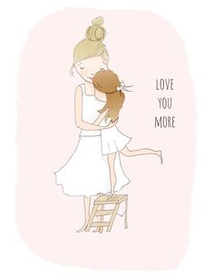 love you more - sweet art print for a kid's room