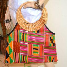 Handmade Ankara Fabric Purse Handmade Tote African by ZabbaDesigns, $25.00