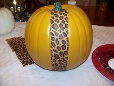 How to Mod Podge a pumpkin.