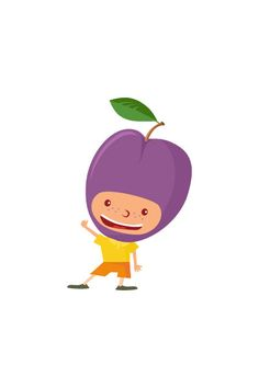 Plumb Kid Vector #plumb #vector #fruits #handdrawvector http://www.vectorvice.com/fruit-kids-vector-pack
