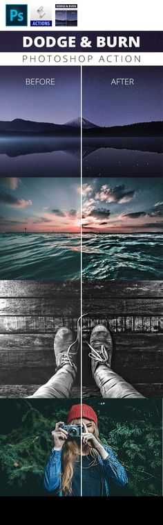 action, addon, atn, burn, dodge, extension, extensions, photo, photography, photoshop, plugin Dodge and Burn is is a well know technique photographers use to boost their images. By using this action you can easily add more details to your images. Feel free to apply this action several times to your photo to even get more details. This is also a non-destructive action, so your main layer will stay unedited and save. You receive a .atn-file which you net to import into photoshop Exact deta...
