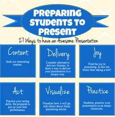 Great Presentations – tips for students and teachers