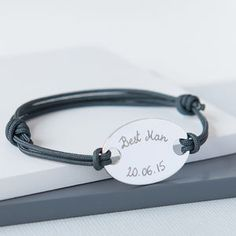 Best Man's Personalised Oval Plate Bracelet