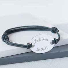 Best Man's Personalised Oval Plate Bracelet