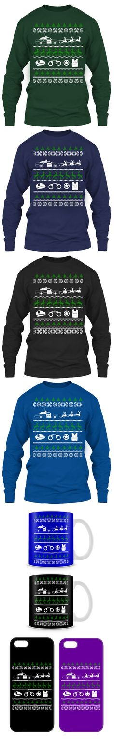 Police Ugly Christmas Sweater! Click The Image To Buy It Now or Tag Someone You Want To Buy This For.