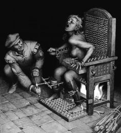 one of many tortures used on witches...