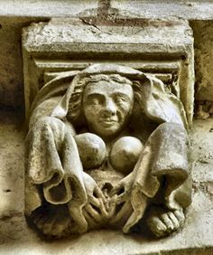 Exhibitionist Corbel Abbey Church of Sainte Radegonde Poitiers, France 13th century