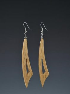 Curve Large Wood Earrings