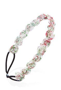 Appliqué Rose Headband #Accessories