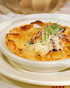 Baked Pasta with Tomato, Cream, and Five Cheeses Recipe