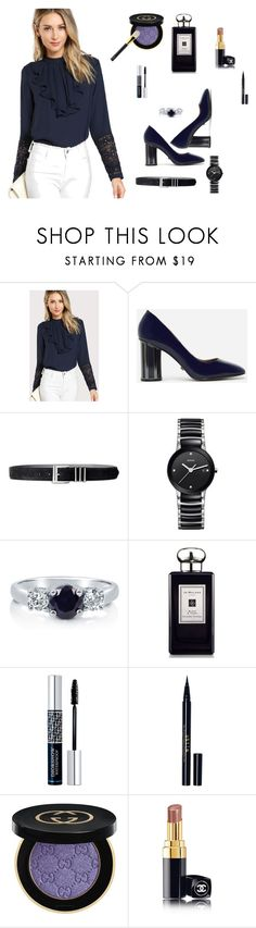 """conjunto677"" by lauracabrera-2 ❤ liked on Polyvore featuring CHARLES & KEITH, Lauren Ralph Lauren, Rado, BERRICLE, Jo Malone, Christian Dior, Stila, Gucci, Chanel and Tom Ford"