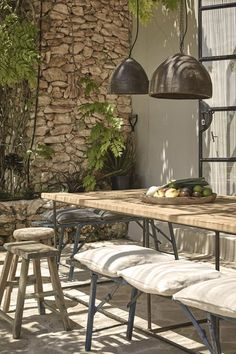 Travelers don't head to Ibiza to spend time indoors. At La Granja Ibiza, the island's newest boutique hotel, the landscape does not disappoint. Best Hotels In Ibiza, Hotel Ibiza, Ibiza Town, Outdoor Rooms, Outdoor Dining, Outdoor Gardens, Outdoor Decor, Rustic Outdoor, Patio Dining