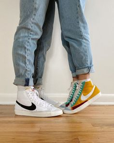 We wanted to show you guys a couple pairs of our coordinating shoes, can you gue. We wanted to show you guys a couple pairs of our coordinating shoes, can you guess who is who lol 🌞🌚 Sneakers Mode, Sneakers Fashion, Fashion Shoes, Guy Fashion, Sneakers Style, High Top Sneakers, Winter Fashion, Aesthetic Shoes, Couple Aesthetic