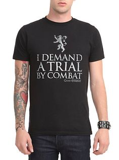 Game Of Thrones Trial By Combat T-Shirt | Hot Topic