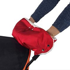 Baby Stroller Hand Muff, Winter Thick Plush Warm Gloves Kids Infant Waterproof Windproof Pram Handlebar Cover Mitten Bunting Bag Jogger Stroller Accessory for Parents and Caregivers-Red -- Awesome products selected by Anna Churchill