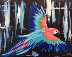 A personal favorite from my Etsy shop https://www.etsy.com/listing/398299087/abstract-macaw-acrylic-16x20-original-on