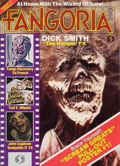 Fangoria #26.  Oh yeah!  I had this mag!  Cool!  The Hunger is a great classic vampire flick starring David Bowie!