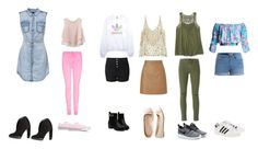 """""""plusieurs façon pour le collège"""" by manon-smack ❤ liked on Polyvore featuring adidas, Aéropostale, ONLY, Calypso St. Barth, Converse, Chicwish, Glamorous, Burberry, Lipsy and J Brand"""