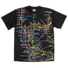 Manhattan Map Tee Black, £14.60, now featured on Fab.