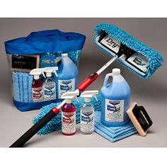 Complete, all-in-one Wash Wax Mop Cleaning Kit. Perfect for airplanes, boats and RVs. http://www.sportys.com/PilotShop/product/19116