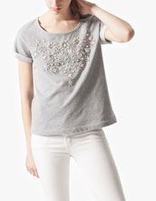 Stradivarius Philippines - Jeweled sweat shirt
