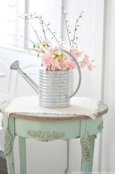 Watering Can Floral Spring Centerpiece by Kara's Party Ideas | Kara Allen MichaelsMakers