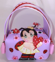 Joaninha  Little Girl Purse  handbag  Goodie by SweetBellaLuna, $14.00