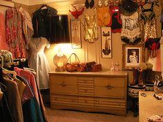 <3 vintage dressing room by sveetcouture, via Flickr