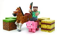 Minecraft Figure Set Overworld Saddle Pack (Steve w/whip Chestnut Horse , Pig w/saddle , 2 x hay bale , 2 x grass blocks) - http://www.amazon4all.net/minecraft-figure-set-overworld-saddle-pack-steve-wwhip-chestnut-horse-pig-wsaddle-2-x-hay-bale-2-x-grass-blocks/