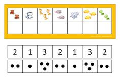Use dots or numbers depending on what your student can handle. By Autismespektrum. Toddler Worksheets, Kindergarten Math Worksheets, Toddler Activities, Speech Language Therapy, Speech And Language, File Folder Games, Learning Centers, Childhood Education, Special Education