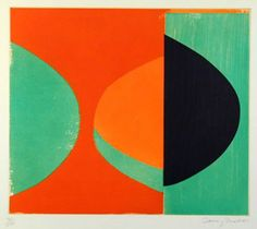 Available for sale from Zimmer Stewart Gallery, Sir Terry Frost, Camberwell Green Paper, 58 × 61 cm Sonia Delaunay, Nadir Afonso, Linocut Prints, Art Prints, Abstract Art Images, Unusual Presents, Paintings I Love, Geometric Shapes, Geometric Painting