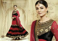 Unstitched Anarkali Suit with Dupatta