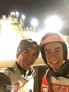 Kamil Stoch and Stefan Kraft Stefan Kraft, Ski Jumping, Sport 2, Skiing, Guys, Lotr, Hobbit, Funny, Ski